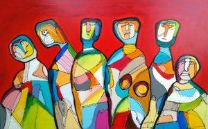Maleri: farverigt opråb