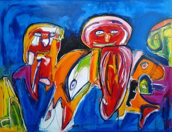 Maleri: Når man ser ridderen på den orange hest ...