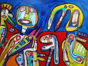 Maleri: Selv en tandløs ...