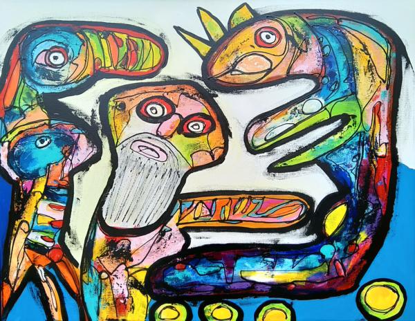 Maleri: Den beskæggee prop fes bare afste som en duracellkanin på epo