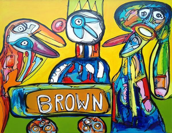 Maleri: Bob havde nær fået humlen galt i halsen
