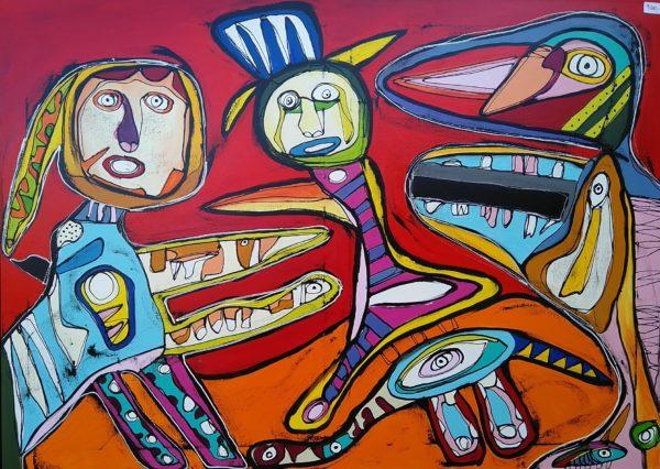 Maleri: Når man glæder nissepigen