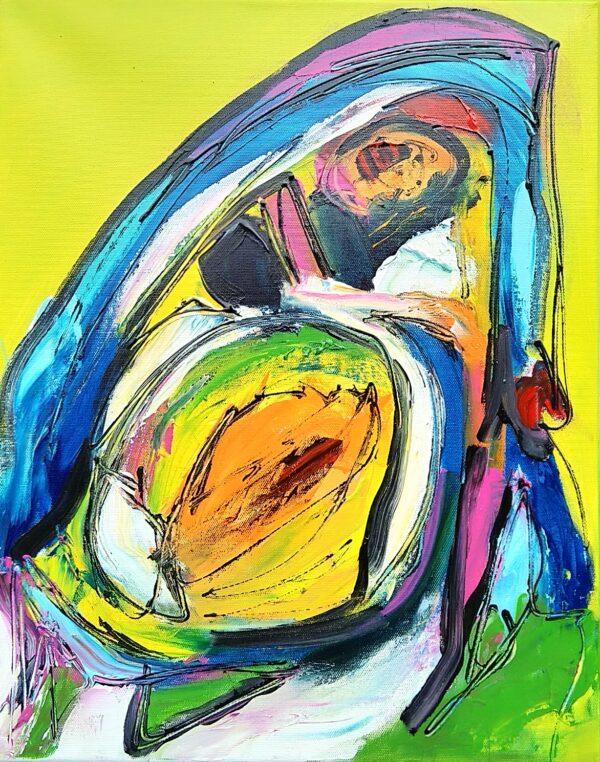 Maleri: Plutte fra Radsted Mose