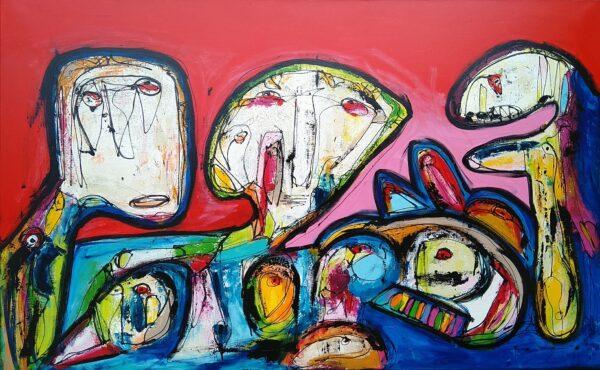 Maleri: Flogesten fra Radsted Mose